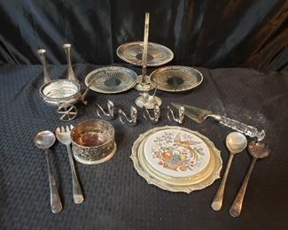 Silverplate table accessories