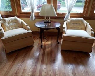 Pair of COMFY upholstered chairs