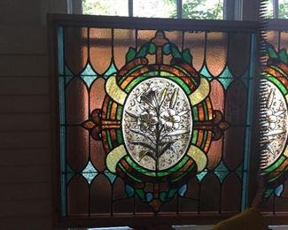 19th century glass custom framed