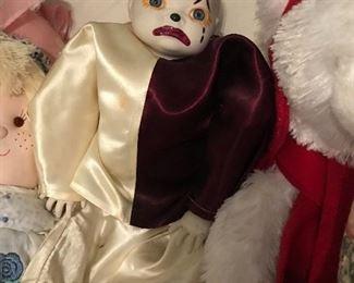 Grace S. Putnam Hand Painted Clown Doll