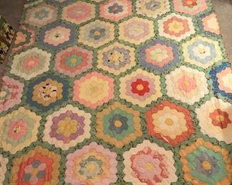Hand-Stitched Vintage Quilt