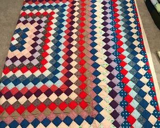 Vintage Hand-Stitched Quilt
