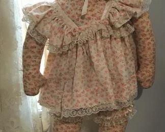 "Antique Cloth Doll around 36"""