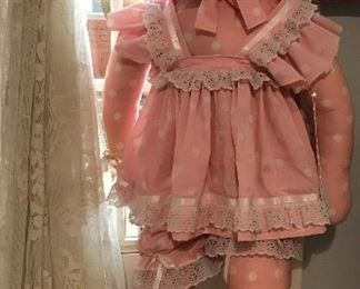 "Antique Handmade Cloth Doll around 36"""