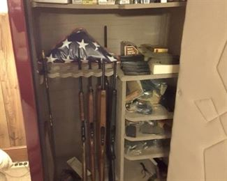 Only three of the guns shown will be sold. All other contents are selling as well.