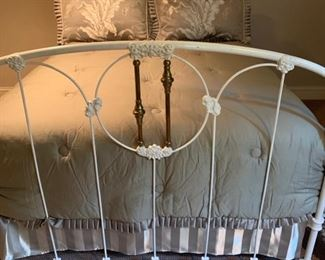Antique iron and brass full bed