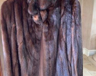 Gorgeous mink coat.