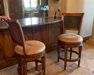 There are 3 of these Hillsdale swivel counter height bar stools.