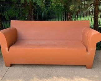 Bubble Club Sofa by Kartell in Clay