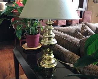 Brass Lamp white shade