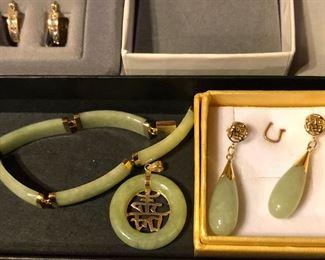 14 karat gold and jade