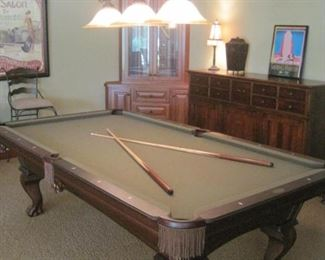 Olhausen 8 ft Pool Table with all accessories in like new condition.