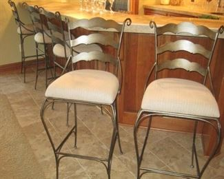 We have a total of 8 of these bar stools for sale.