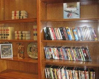 Hundreds of DVD's and CD's.