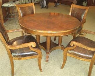 Breakfast Table with 4 Flexsteel Leather Chairs.