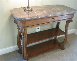 We have two of these Marble Topped Hall Tables.