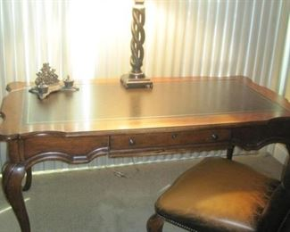 Desk and Leather Chair.