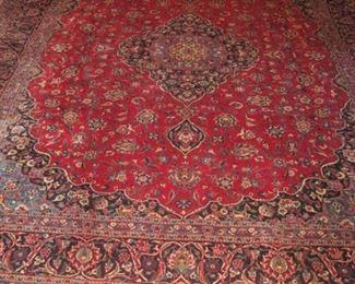 "Large Iranian Wool Rug 13' 7"" x 10' 6""."