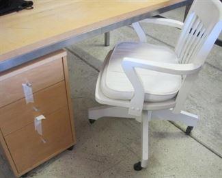 Williams Sonoma Desk Chair.   Room and Board Desk and File Cabinet.