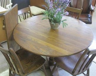 Oak Table and Chairs.