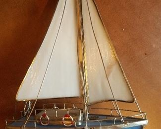 Stain glass sailboat