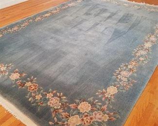 Blue area rug 13x9ish