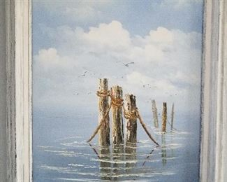 Nicely framed print of pilings