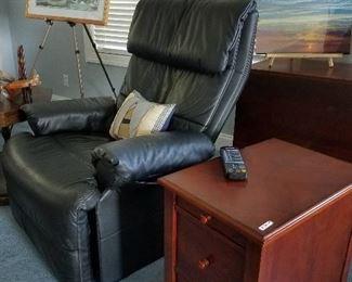Massage recliner , 2 drawer end table