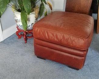 Leather Hassock
