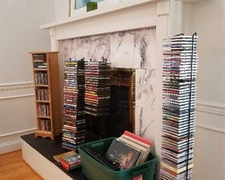 Lots od CDs and DVDs