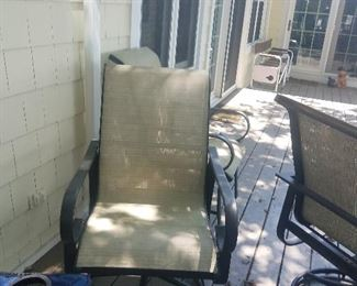 4 Chairs with Glass top table