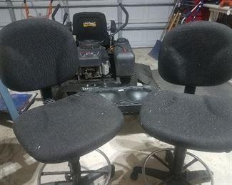 2 high swivel l chairs