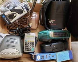 Clock Radios, Calculators, GPS Equipment & Desk Lamp