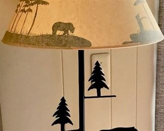 Floor lamps, cabin decor, northern decor