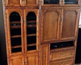 Oak cabinet, entertainment center