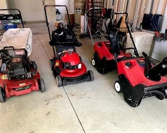 Lawn mowers & snow blowers