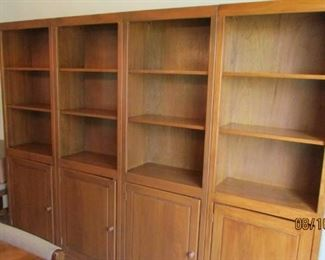 Solid wood 4 pc book case with adjustable shelves