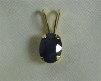 14 k Sapphire Pendant