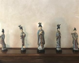 Antique Chinese Cloisonne Figurines