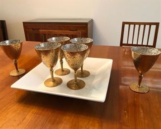 West Virginia Glass goblets