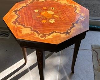 Inlaid occasional table with storage......