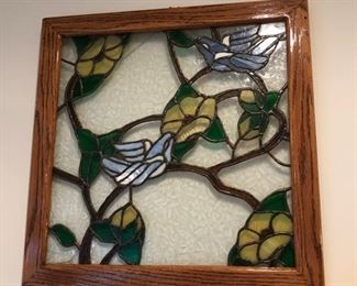 Stained glass wall decor