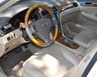 Gorgeous beige leather interior!
