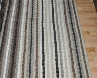 """100% wool  brown and cream tones """"Tapis"""" area rug from Pier One Imports,  6' x 9'"""