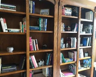 Bookcase - set of 2 and lots of books, cds and dvds