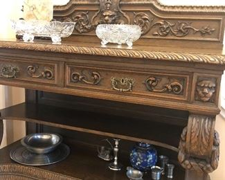 Antique sideboard - circa 1850 from Germany - purchase at Schmidt's antiques