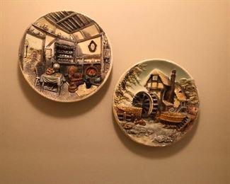 porcelain relief plates