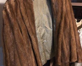 mink car coat