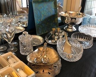 Crystal, silverplate and more