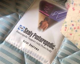 Full bed - seals Posturpedic mattress and box spring